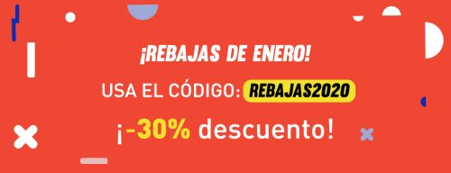 pop up informando de las rebajas del 30% de enero